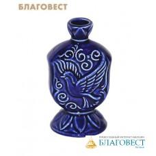 Подсвечник Голубь (синий, керамический)