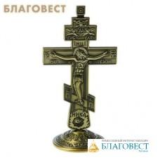 Крест на подставке бронзовый цвет