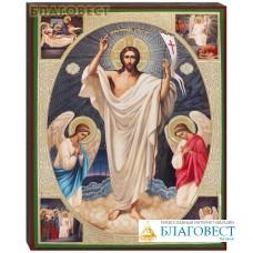 """Икона """"Воскресение Христово"""" аналойная малая"""