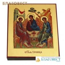 """Икона ручной работы """"Святая Троица"""". Поталь (позолота) наносится вручную"""