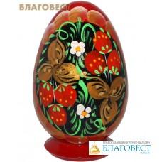 """Яйцо пасхальное на подставке """"Хохлома"""""""