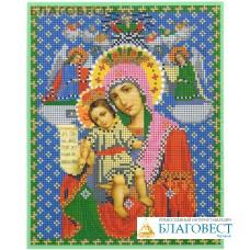 """Рисунок на ткани для вышивания бисером Пресвятая Богородица """"Достойно Есть"""". Размер 190*240мм"""