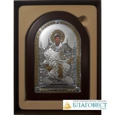 Икона Святителя Спиридона Тримифунтского, 10 х 14 см. Греция.