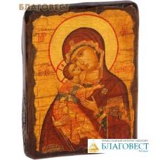 """Икона под старину Пресвятая Богородица """"Владимирская"""""""