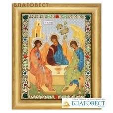 """Икона """"Святая Троица"""" в багете со стразами, в ассортименте"""