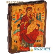 """Икона под старину Пресвятая Богородица """"Всецарица"""""""
