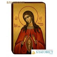 """Икона Божией Матери """"Помощница в родах"""" на деревянной основе"""