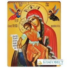 """Икона Божией Матери """"Достойно Есть"""". Полиграфия, дерево, лак"""