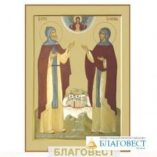 Икона св. блг. кн. Петр и Феврония Муромские