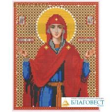 """Рисунок на ткани для вышивания бисером Пресвятая Богородица """"Нерушимая Стена"""". Размер 190*240мм"""