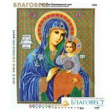 """Рисунок на ткани для вышивания бисером Пресвятая Богородица """"Неувядаемый цвет"""""""