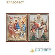 Складень Святая Троица - святитель Спиридон Тримифунтский. Размер 175*115мм