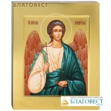 Икона аналойная Ангел-Хранитель. Дерево, ручное золочение (поталь), с ковчегом