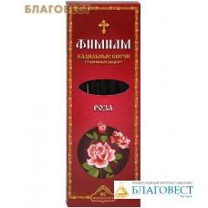 """Кадильные свечи для домашнего каждения """"Роза"""" (в наборе 7 штук, подставка прилагается)"""