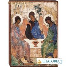 """Икона """"Святая Троица"""" на деревянной основе"""