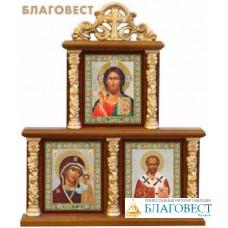 Иконостас тройной с иконами