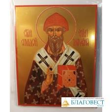 Иконочка Святителя Спиридона Тримифунтского, 7 х 9 см