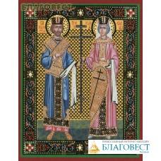 Икона Великие равноапостольные император Константин и царица Елена