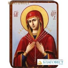 """Икона Божией Матери """"Умягчение злых сердец"""" на деревянной основе"""