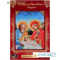 """Набор для вышивания иконы бисером """"Рождество Христово"""". Чешский бисер. Размер 19*24 см"""