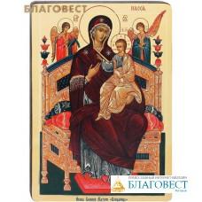 """Икона Божией Матери """"Всецарица"""". Полиграфия, дерево, лак"""