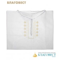 Рубашка (подростковая) для Крещения и купания в Святых источниках. Размер 40