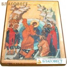 """Икона """"Воскресение"""" на деревянной основе"""