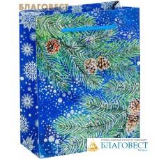 """Пакет """"Новогодний лес"""" голография вертикальный"""