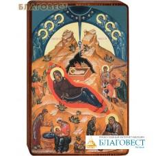 """Икона  """"Рождество Иисуса Христа"""" на деревянной основе"""