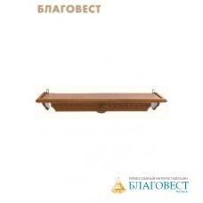Полка для икони прямая греческая, цвет орех