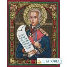 Икона Праведный воин Феодор Санаксарский (Ушаков)