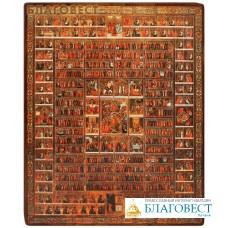 """Икона """"Собор всех святых"""" на деревянной основе"""