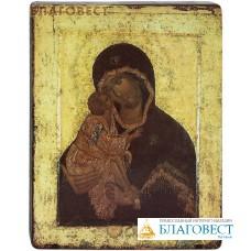 """Икона Божией Матери """"Донская"""". Полиграфия, дерево, лак"""