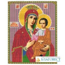 """Рисунок на ткани для вышивания иконы бисером Пресвятая Богородица """"Скоропослушница"""". Размер 190*240мм"""