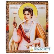"""Икона """"Святая великомученица Царица Александра"""". Полиграфия, дерево, лак"""