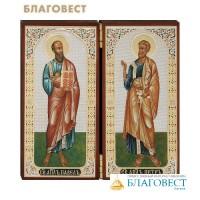"""Складень двойной """"Святые апостолы Петр и Павел"""""""