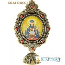 """Икона Пресвятой Богородицы """"Неупиваемая Чаша"""" на подставке"""