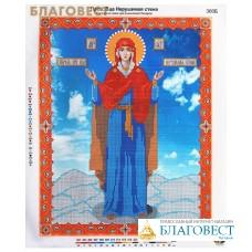 """Рисунок на ткани для вышивания бисером Пресвятая Богородица """"Нерушимая стена"""""""