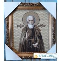 Икона Преподобного Сергия Радонежского, габелен, 29,5 х 33,5 см
