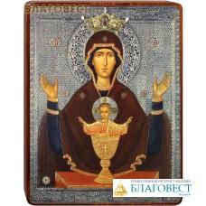"""Икона Божией Матери """"Неупиваемая чаша"""" на деревянной основе"""