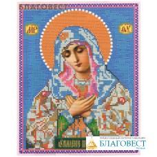 """Рисунок на ткани для вышивания иконы бисером Пресвятая Богородица """"Умиление"""". Размер 190*240мм"""