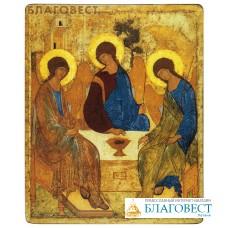 """Икона """"Святая Троица"""". Полиграфия, дерево, лак"""