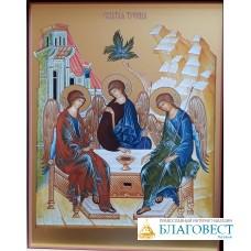 Икона Святой Троицы, в коробке.  14  х 18 см