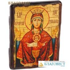 """Икона под старину Пресвятая Богородица """"Неупиваемая чаша"""""""