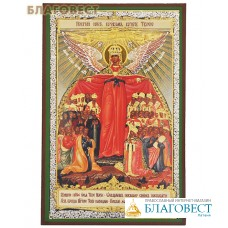 """Икона Пресвятой Богородицы """"Покрый нас кровом крылу Твоею"""" аналойная"""