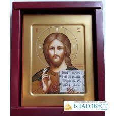 Икона Господь Вседержитель, 14 х 18 см, ковчег, в коробке