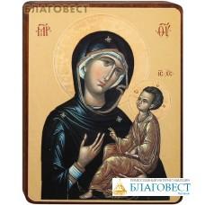 """Икона Божией Матери """"Тихвинская"""" на деревянной основе"""