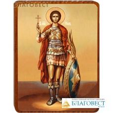 """Икона """"Святой мученик Уар"""" на деревянной основе"""