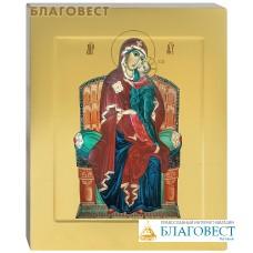 """Икона аналойная пресвятая Богородица """"Всецарица"""". Дерево, ручное золочение (поталь), с ковчегом"""
