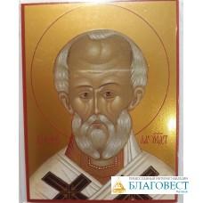 Иконочка Святителя Николая Чудотворца. 7 х 9 см